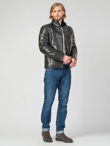 Кожаная куртка кожа , цвет черный, арт. 18007272  - цена 14990 руб.  - магазин TOTOGROUP