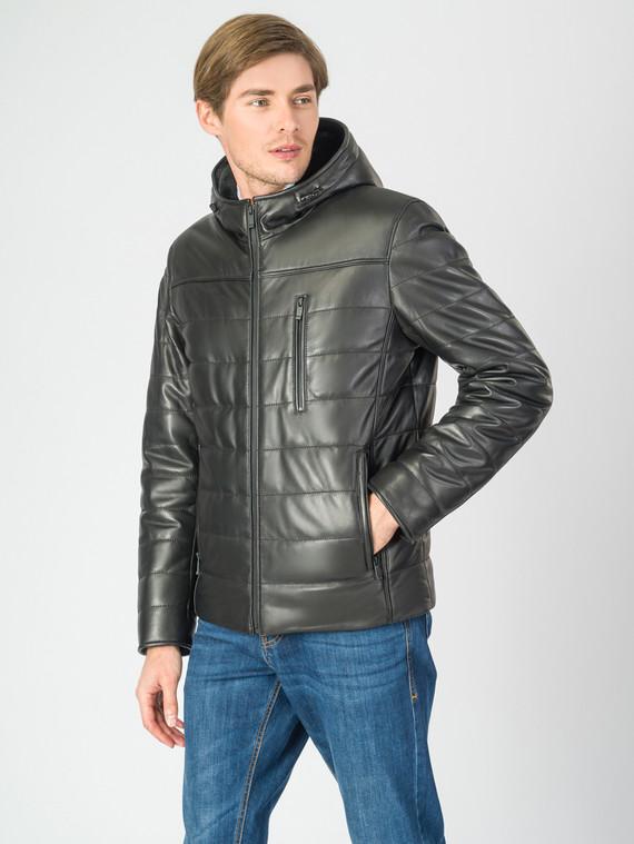 Кожаная куртка кожа , цвет черный, арт. 18007273  - цена 19990 руб.  - магазин TOTOGROUP