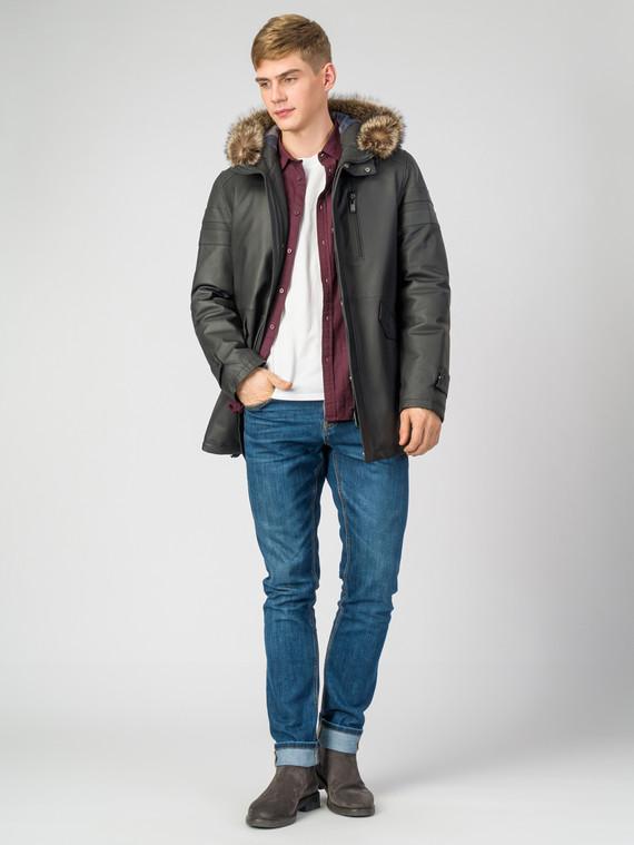 Кожаное пальто кожа , цвет черный, арт. 18007277  - цена 17990 руб.  - магазин TOTOGROUP