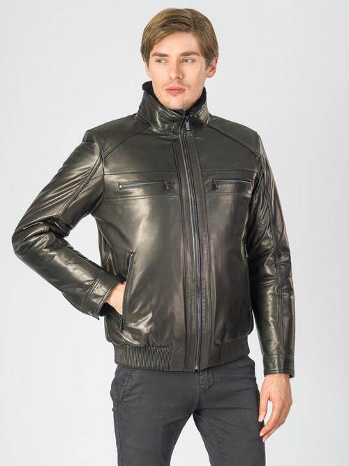 Кожаная куртка артикул 18007281/46 - фото 2