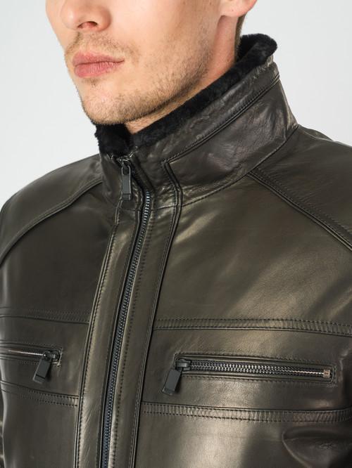 Кожаная куртка артикул 18007281/46 - фото 4