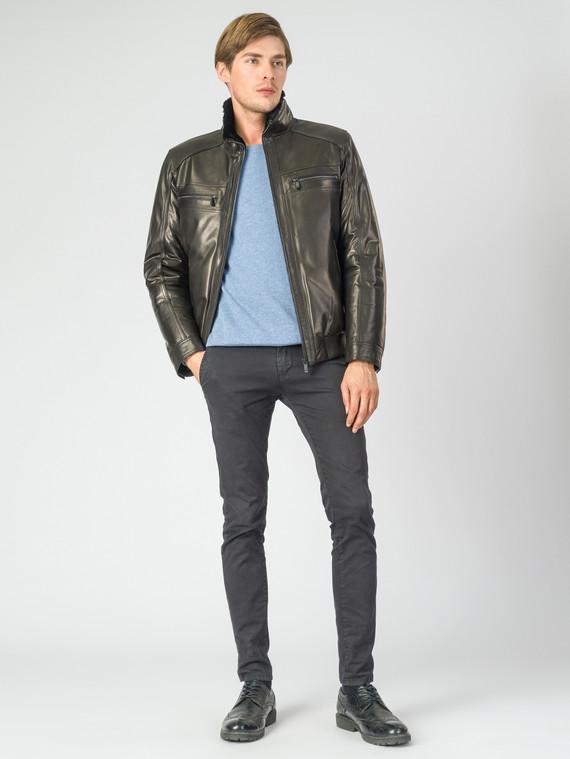 Кожаная куртка кожа баран, цвет черный, арт. 18007281  - цена 23990 руб.  - магазин TOTOGROUP