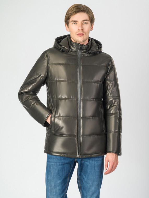 Кожаная куртка кожа баран, цвет черный, арт. 18007282  - цена 17990 руб.  - магазин TOTOGROUP