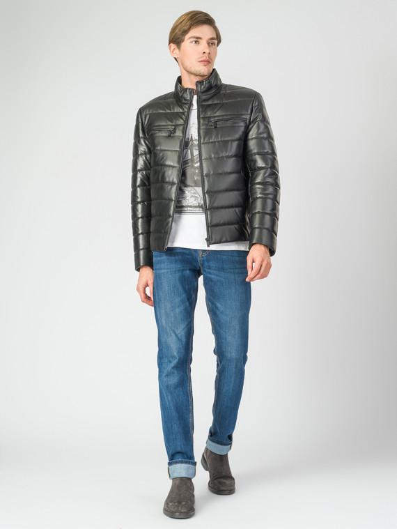 Кожаная куртка кожа баран, цвет черный, арт. 18007285  - цена 11290 руб.  - магазин TOTOGROUP