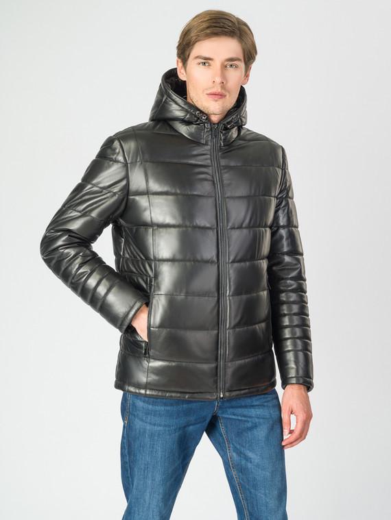 Кожаная куртка кожа баран, цвет черный, арт. 18007286  - цена 18990 руб.  - магазин TOTOGROUP