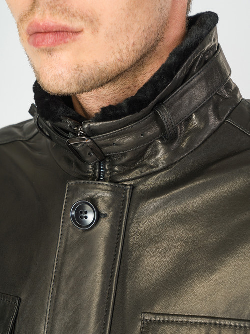 Кожаная куртка артикул 18007288/46 - фото 4