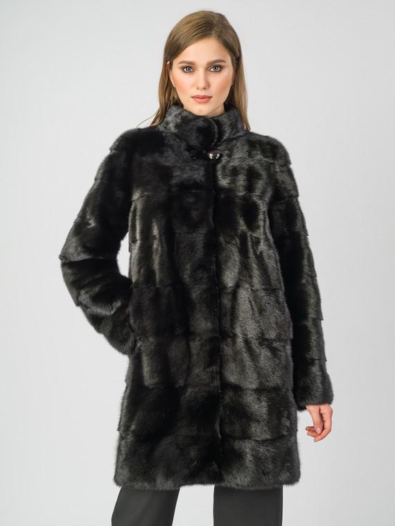 Шуба из норки мех норка, цвет черный, арт. 18007289  - цена 52990 руб.  - магазин TOTOGROUP