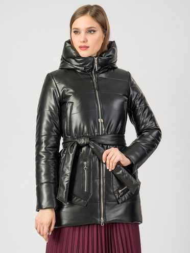 Кожаное пальто эко-кожа 100% П/А, цвет черный, арт. 18007309  - цена 5890 руб.  - магазин TOTOGROUP