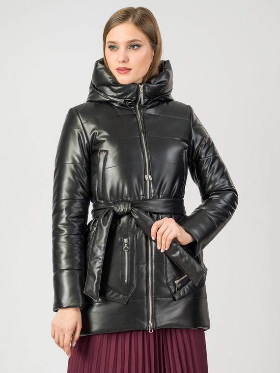 Кожаное пальто эко-кожа 100% П/А, цвет черный, арт. 18007309  - цена 6290 руб.  - магазин TOTOGROUP