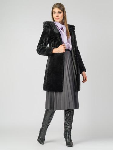 Шуба из мутона мех мутон, цвет черный, арт. 18007312  - цена 25590 руб.  - магазин TOTOGROUP