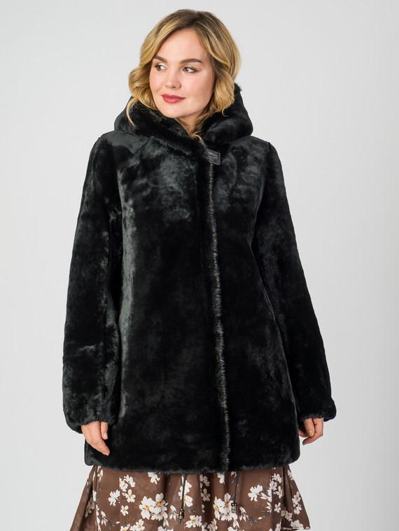Шуба из мутона мех мутон, цвет черный, арт. 18007313  - цена 35990 руб.  - магазин TOTOGROUP