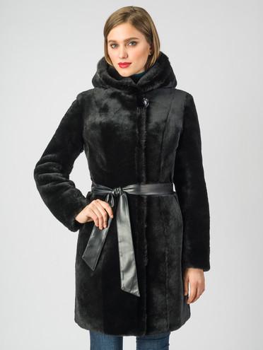 Шуба из мутона мех мутон, цвет черный, арт. 18007314  - цена 29990 руб.  - магазин TOTOGROUP