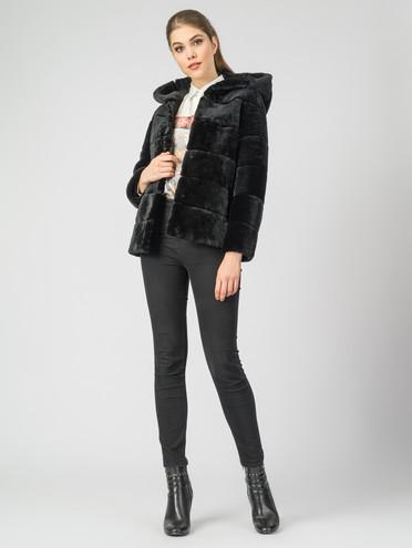 Шуба мех овчина крашен., цвет черный, арт. 18007328  - цена 9990 руб.  - магазин TOTOGROUP