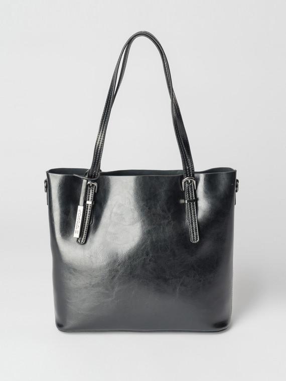 Сумка кожа теленок, цвет черный, арт. 18007359  - цена 5890 руб.  - магазин TOTOGROUP