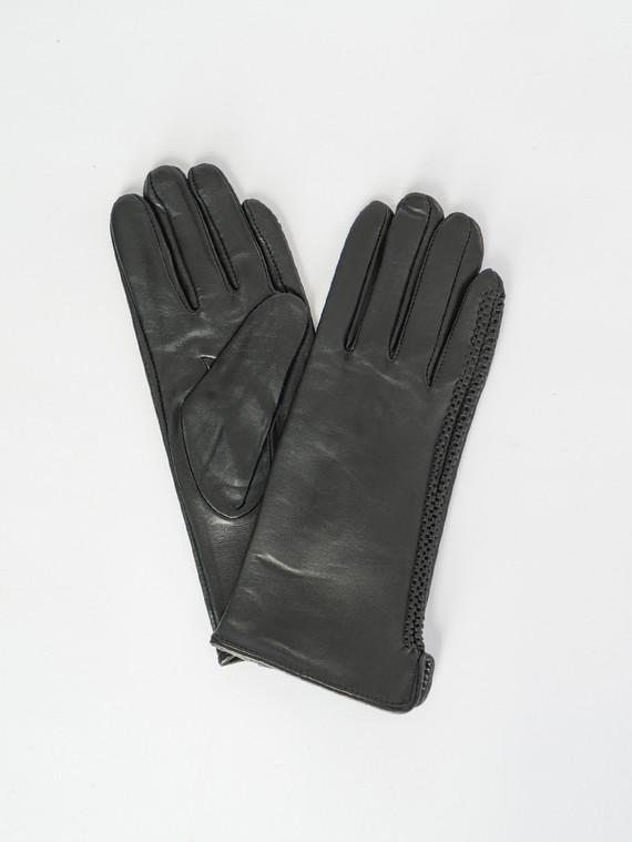 Перчатки кожа , цвет черный, арт. 18007500  - цена 1070 руб.  - магазин TOTOGROUP