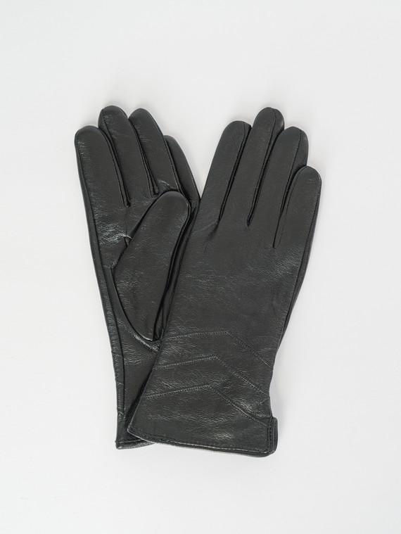 Перчатки кожа , цвет черный, арт. 18007506  - цена 1570 руб.  - магазин TOTOGROUP