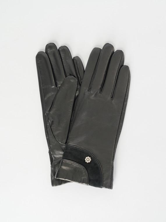 Перчатки кожа , цвет черный, арт. 18007507  - цена 1260 руб.  - магазин TOTOGROUP