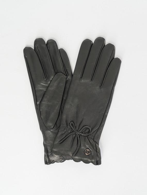 Перчатки кожа , цвет черный, арт. 18007508  - цена 1260 руб.  - магазин TOTOGROUP