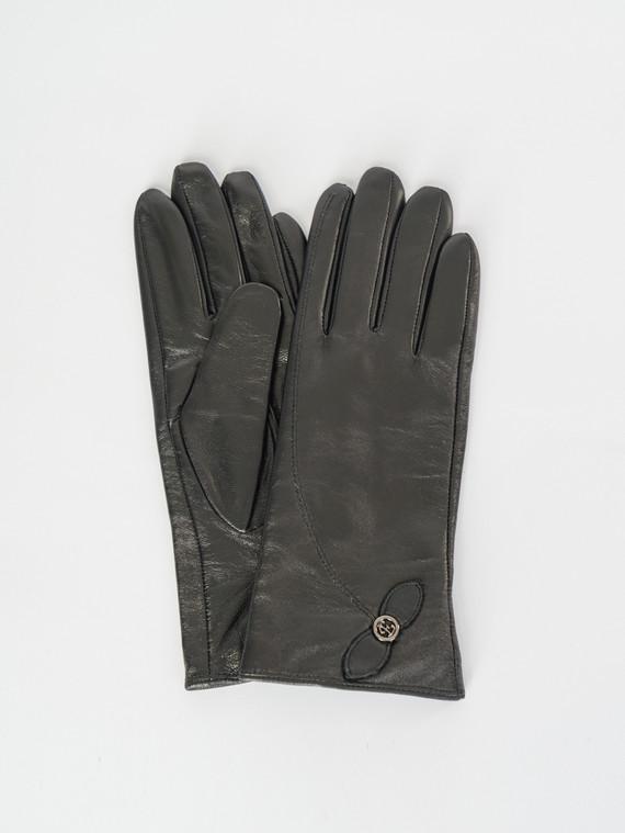 Перчатки кожа , цвет черный, арт. 18007510  - цена 1260 руб.  - магазин TOTOGROUP