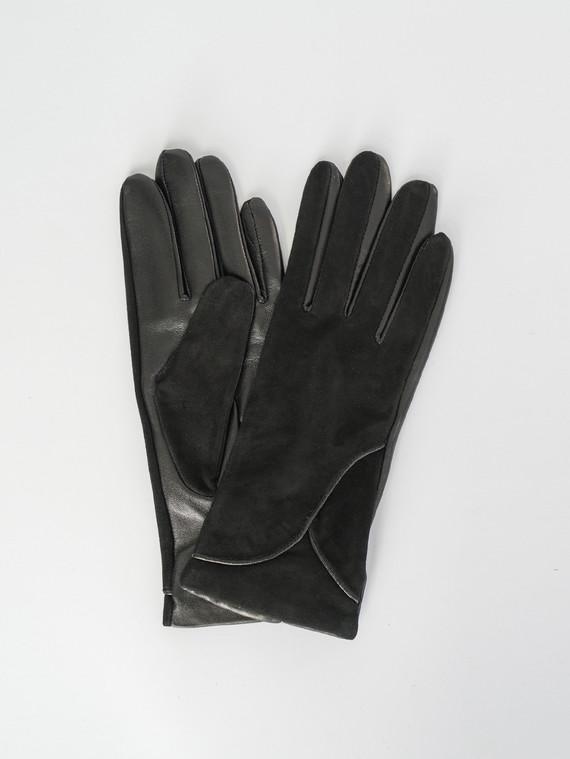 Перчатки кожа замша, цвет черный, арт. 18007511  - цена 1260 руб.  - магазин TOTOGROUP
