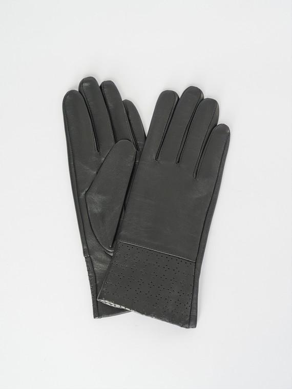Перчатки кожа , цвет черный, арт. 18007513  - цена 1410 руб.  - магазин TOTOGROUP