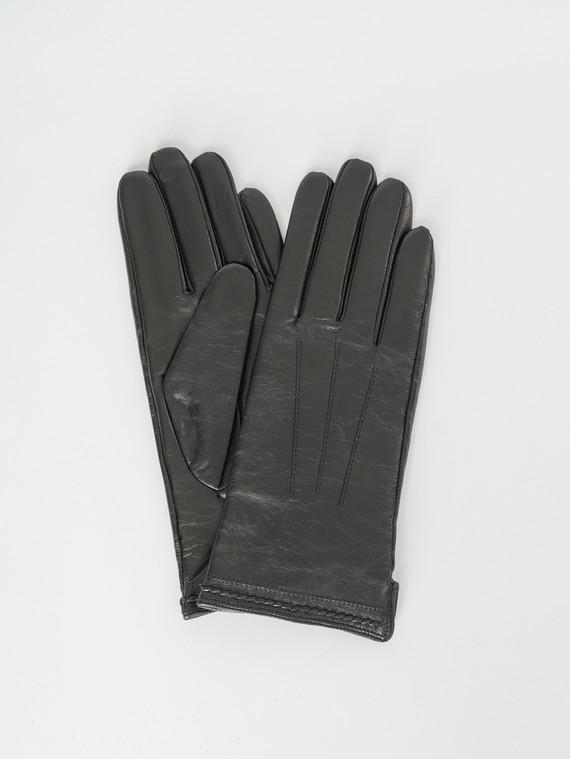 Перчатки кожа , цвет черный, арт. 18007514  - цена 1410 руб.  - магазин TOTOGROUP