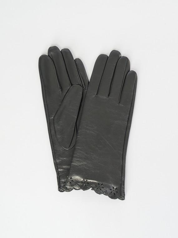 Перчатки кожа , цвет черный, арт. 18007518  - цена 1410 руб.  - магазин TOTOGROUP