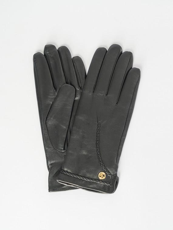 Перчатки кожа , цвет черный, арт. 18007520  - цена 1410 руб.  - магазин TOTOGROUP