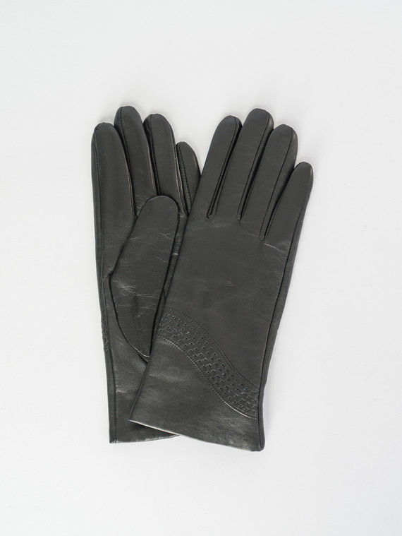 Перчатки кожа , цвет черный, арт. 18007521  - цена 1410 руб.  - магазин TOTOGROUP