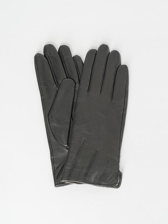 Перчатки кожа , цвет черный, арт. 18007522  - цена 1410 руб.  - магазин TOTOGROUP