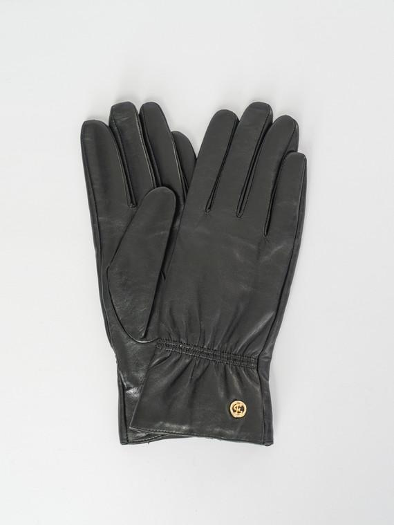 Перчатки кожа , цвет черный, арт. 18007523  - цена 1410 руб.  - магазин TOTOGROUP