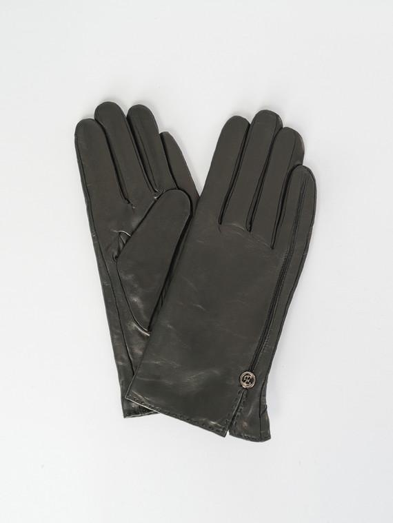 Перчатки кожа , цвет черный, арт. 18007524  - цена 1490 руб.  - магазин TOTOGROUP