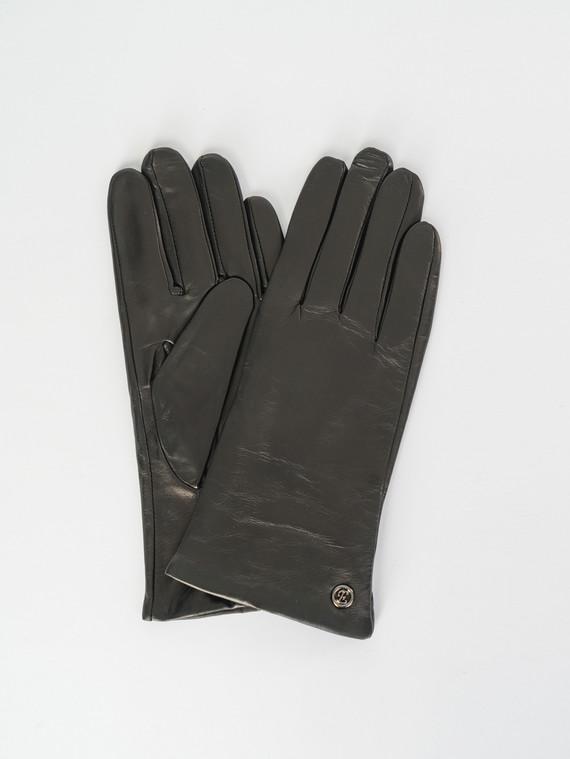 Перчатки кожа , цвет черный, арт. 18007525  - цена 1490 руб.  - магазин TOTOGROUP