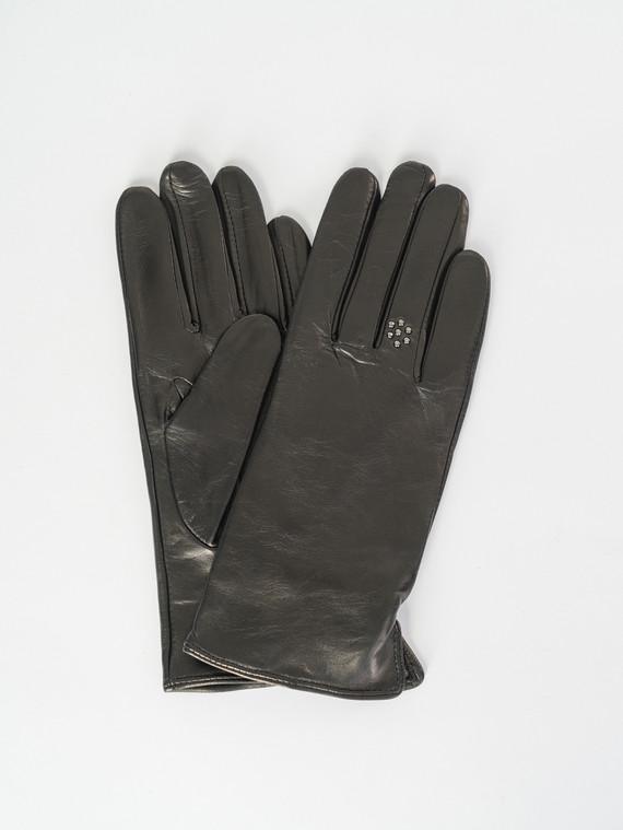Перчатки кожа , цвет черный, арт. 18007526  - цена 1490 руб.  - магазин TOTOGROUP