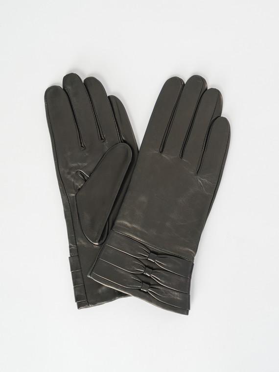 Перчатки кожа , цвет черный, арт. 18007527  - цена 1570 руб.  - магазин TOTOGROUP