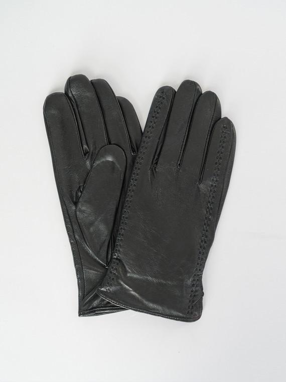 Перчатки кожа коза, цвет черный, арт. 18007531  - цена 1190 руб.  - магазин TOTOGROUP