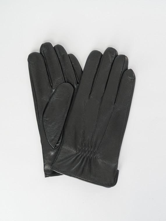 Перчатки кожа коза, цвет черный, арт. 18007532  - цена 1070 руб.  - магазин TOTOGROUP
