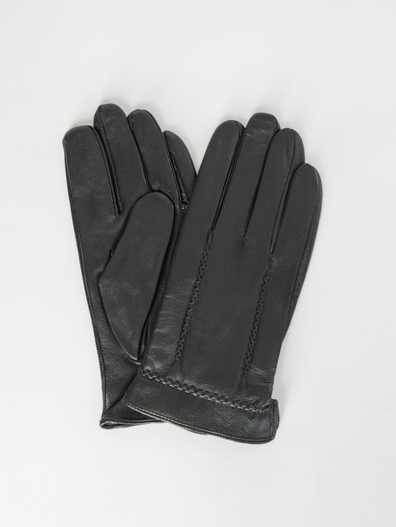 Перчатки кожа коза, цвет черный, арт. 18007533  - цена 1190 руб.  - магазин TOTOGROUP