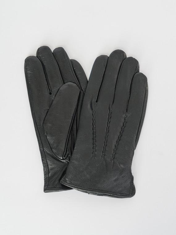 Перчатки кожа коза, цвет черный, арт. 18007534  - цена 1070 руб.  - магазин TOTOGROUP