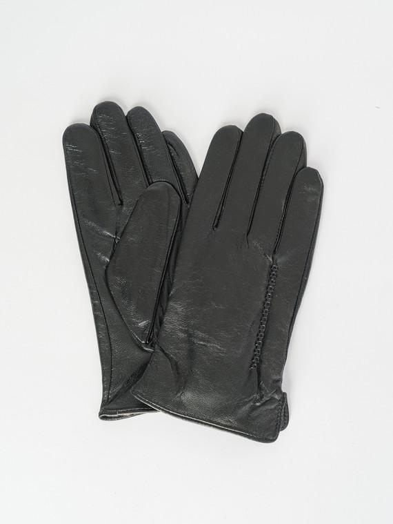 Перчатки кожа коза, цвет черный, арт. 18007535  - цена 1070 руб.  - магазин TOTOGROUP