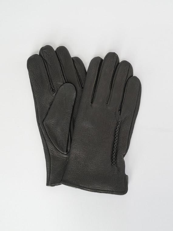 Перчатки кожа коза, цвет черный, арт. 18007536  - цена 1490 руб.  - магазин TOTOGROUP