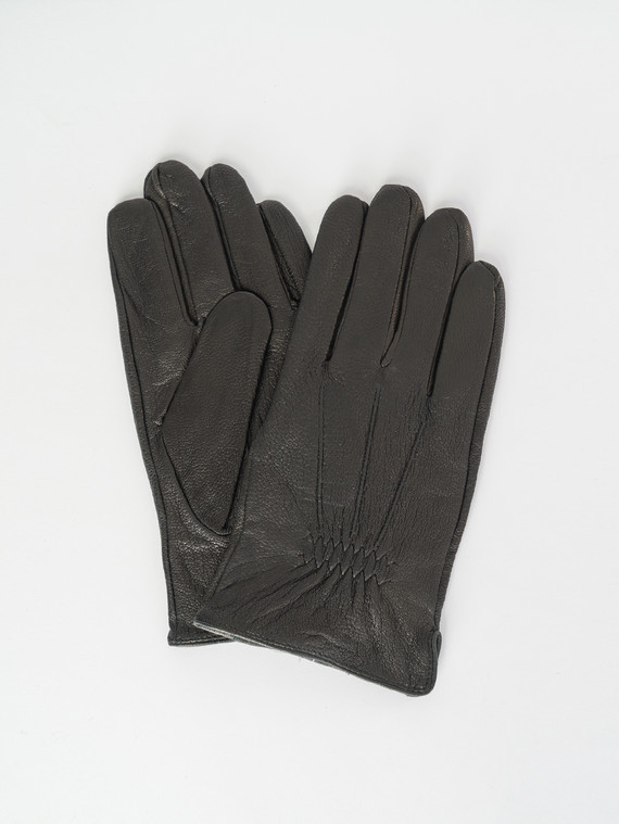 Перчатки кожа коза, цвет черный, арт. 18007537  - цена 1490 руб.  - магазин TOTOGROUP