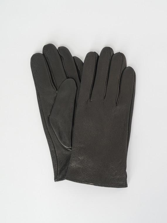 Перчатки кожа коза, цвет черный, арт. 18007538  - цена 1490 руб.  - магазин TOTOGROUP