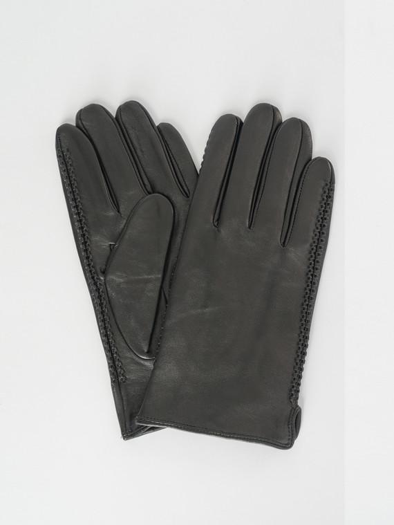 Перчатки кожа коза, цвет черный, арт. 18007539  - цена 1750 руб.  - магазин TOTOGROUP