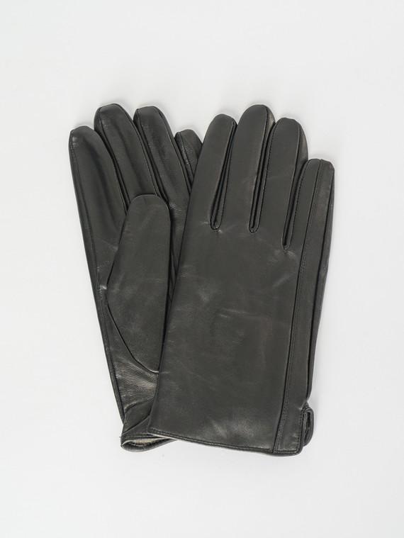 Перчатки кожа коза, цвет черный, арт. 18007540  - цена 1570 руб.  - магазин TOTOGROUP