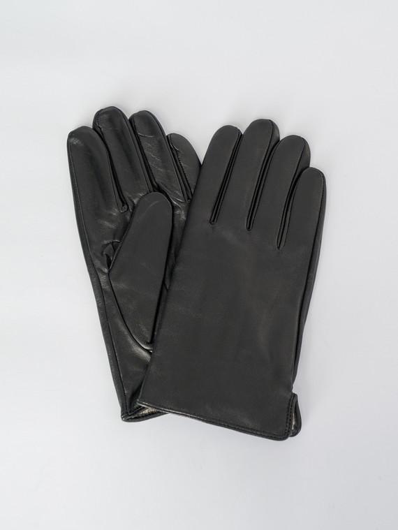 Перчатки кожа коза, цвет черный, арт. 18007541  - цена 1750 руб.  - магазин TOTOGROUP