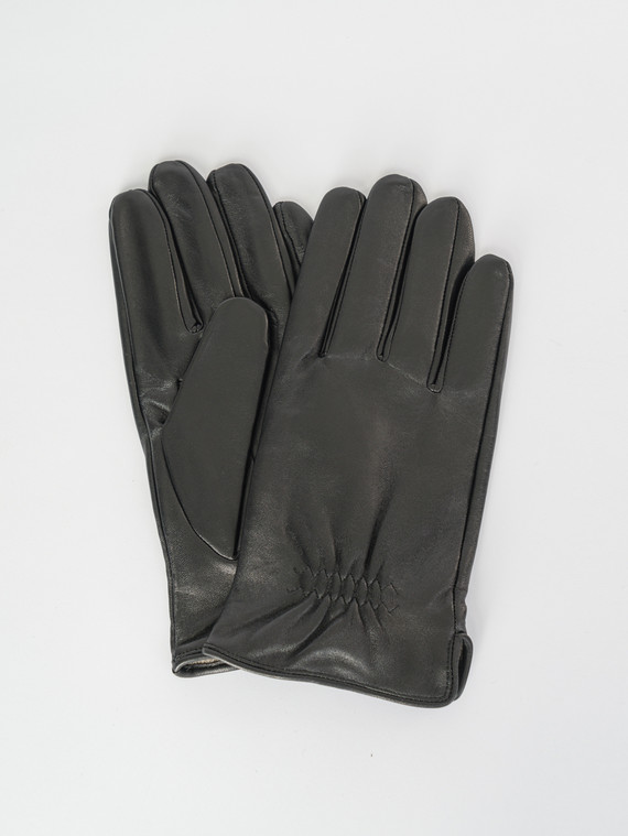Перчатки кожа коза, цвет черный, арт. 18007542  - цена 1570 руб.  - магазин TOTOGROUP