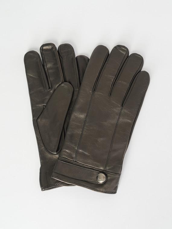 Перчатки кожа коза, цвет черный, арт. 18007543  - цена 1950 руб.  - магазин TOTOGROUP