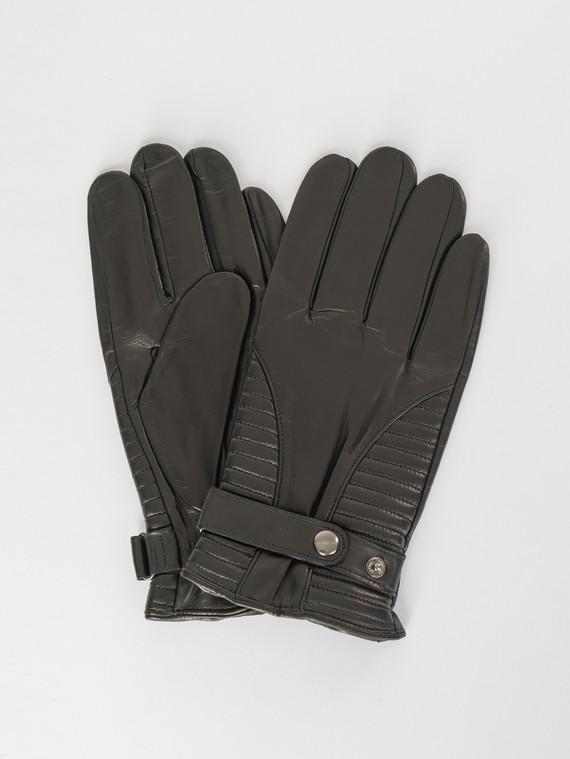 Перчатки кожа коза, цвет черный, арт. 18007544  - цена 2060 руб.  - магазин TOTOGROUP