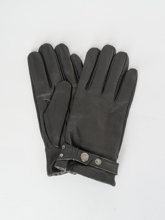 Перчатки кожа коза, цвет черный, арт. 18007545  - цена 1750 руб.  - магазин TOTOGROUP